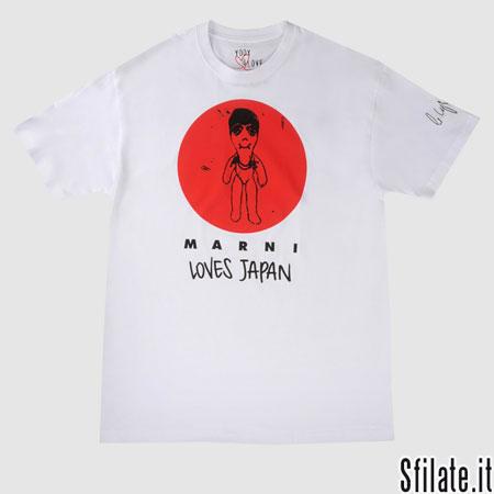 8 t-shirt X 8 stilisti = insieme per il Giappone.